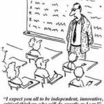 מורה מטיל ספק בחינוך חובה